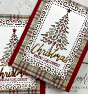 Pine Woods Dies and Plaid Tidings from Stampin' Up!