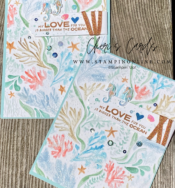 painted 3d Seabed tutorial Stampin' Up